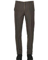 John Varvatos | Natural 19.5cm Striped Ramie & Cotton Pants for Men | Lyst