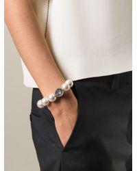 Lanvin - Brown Pearl Bracelet - Lyst