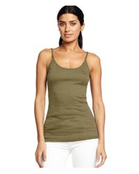 Michael Stars | Green Shine Long Camisole | Lyst