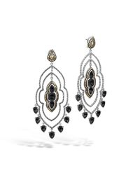 John Hardy - Black Batu Morocco Chandelier Earrings - Lyst