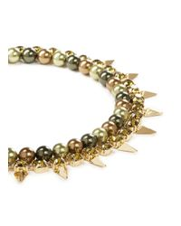 Joomi Lim | Green Spike Crystal Pearl Double Strand Necklace | Lyst