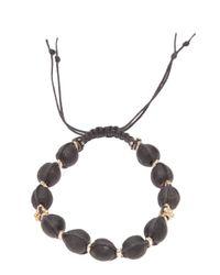 Stones Of Character - Black Woven Macramã Bracelet for Men - Lyst