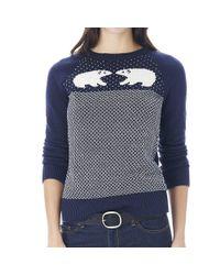 G.H. Bass & Co.   Blue Lilibeth Polar Bear Intarsia Sweater   Lyst
