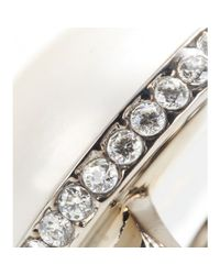 Balenciaga - White Clip-on Earrings - Lyst