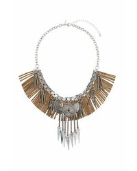 TOPSHOP | Metallic Fringe Chain And Shard Collar | Lyst