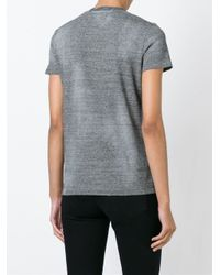 DSquared² - Gray V-neck T-shirt - Lyst