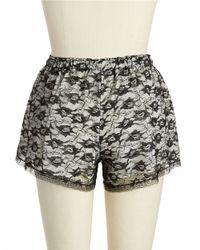 Flora Nikrooz | Black Snuggle Lace Shorts | Lyst
