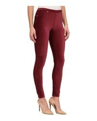 MICHAEL Michael Kors - Red Stretch Cord Leggings - Lyst