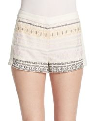 BCBGMAXAZRIA | Natural Patterned Shorts | Lyst