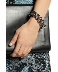 Bottega Veneta - Metallic Sterling Silver And Leather Bracelet - Lyst