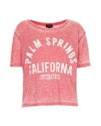 TOPSHOP - Pink Palm Springs Tee - Lyst