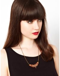 Tatty Devine - Brown Moth Necklace - Lyst