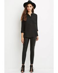 Forever 21 | Black Boxy Pocket Shirt | Lyst