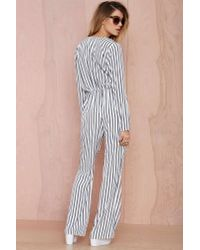 Nasty Gal - Blue Dreamboat Tie-front Jumpsuit - Lyst