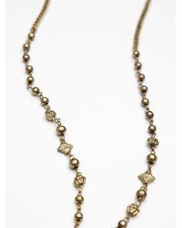 Free People - Metallic Metal Bead Rosary - Lyst