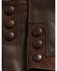 John Varvatos | Brown Nappa Sheepskin Snap Glove for Men | Lyst