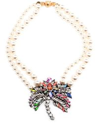 Shourouk | Natural Palm Tree Pearl Necklace | Lyst