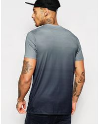 Jaded London | Blue T-shirt With Ombre Print for Men | Lyst