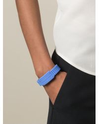 Marc By Marc Jacobs - Blue Rubber Logo Bracelet - Lyst