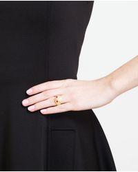 Yvonne Léon - Metallic 18K Gold And Diamond Owl Ring - Lyst