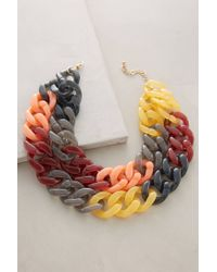Anthropologie | Multicolor Lush Link Necklace | Lyst