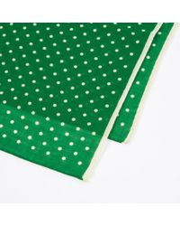 Paul Smith - Women's Green Silk-blend Polka Dot Scarf - Lyst