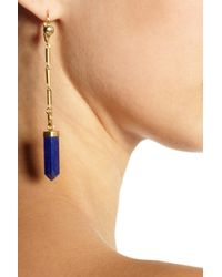 Isabel Marant - Metallic New Day Gold-Tone Lapis Lazuli Earrings - Lyst