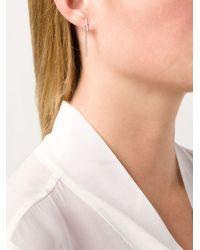 Ileana Makri | Metallic Dropped Bar Earrings | Lyst