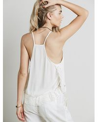 Free People - White Intimately Womens Lace And Petals Cami - Lyst