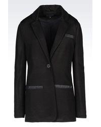 Emporio Armani - Black One Button Jacket - Lyst