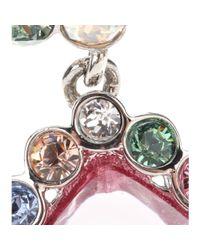 Miu Miu - Multicolor Crystal Clip-On Earrings - Lyst