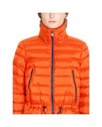 Ralph Lauren - Orange Mockneck Down Jacket - Lyst