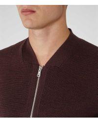 Reiss - Purple Charleston Zip Jumper for Men - Lyst