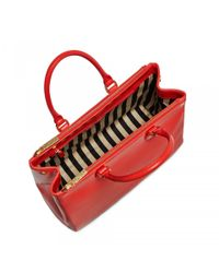 Lulu Guinness - Bright Red Polished Leather Large Amelia - Lyst