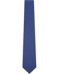 Ferragamo | Blue Tugboat-print Silk Tie for Men | Lyst