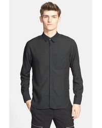 Tim Coppens | Black Trim Fit Double Back Hem Sport Shirt for Men | Lyst