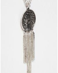 ASOS - Metallic Dreamcatcher Necklace In Silver for Men - Lyst