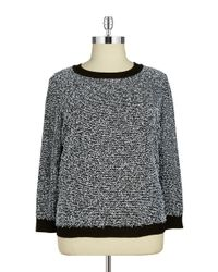 Calvin Klein | Black Plus Eyelash Knit Sweater | Lyst