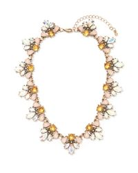 Forever 21 | Pink Iridescent Faux Stone Statement Necklace | Lyst