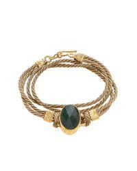 Ottoman Hands | Metallic Double Wrap Stone Cord Bracelet | Lyst