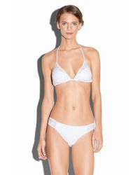 MILLY - White Resille Curacao String Bikini Top - Lyst