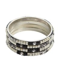 Chamak by Priya Kakkar | Set Of 4 - Black And Silver Jeweled Bangles | Lyst