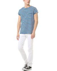 Won Hundred - Blue Laurel Stripe Tshirt for Men - Lyst