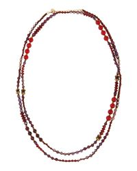 Nakamol - Purple Beaded Station Wrap Necklace - Lyst