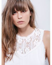 Free People - White Easy Sunday Top - Lyst