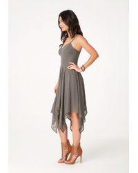 Bebe | Green Flame Stitch Knit Dress | Lyst