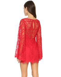 Free People | Red Guinevere Lace Dress | Lyst