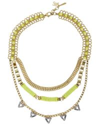 John & Pearl - Metallic Quantum Gold Plated Triple Chain Necklace - Lyst