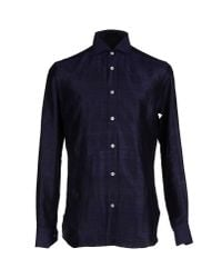 Mp Massimo Piombo - Blue Shirt for Men - Lyst