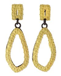 Armenta - Black Old World 18K Gold & Midnight Carved Drop Earrings - Lyst